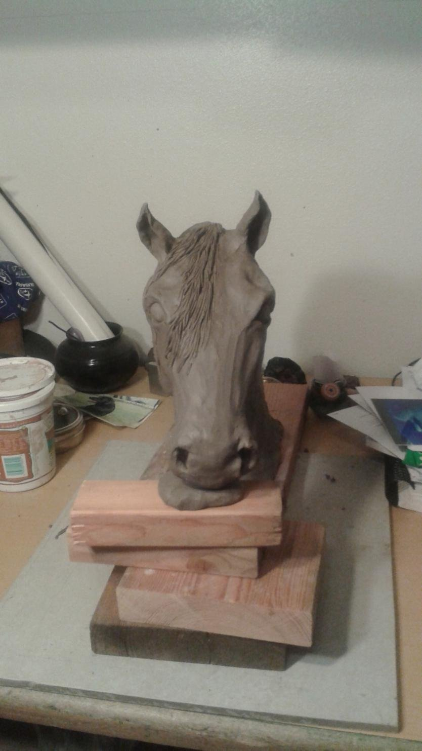 Horse and livestock clay sculpture-20150326_200724.jpg