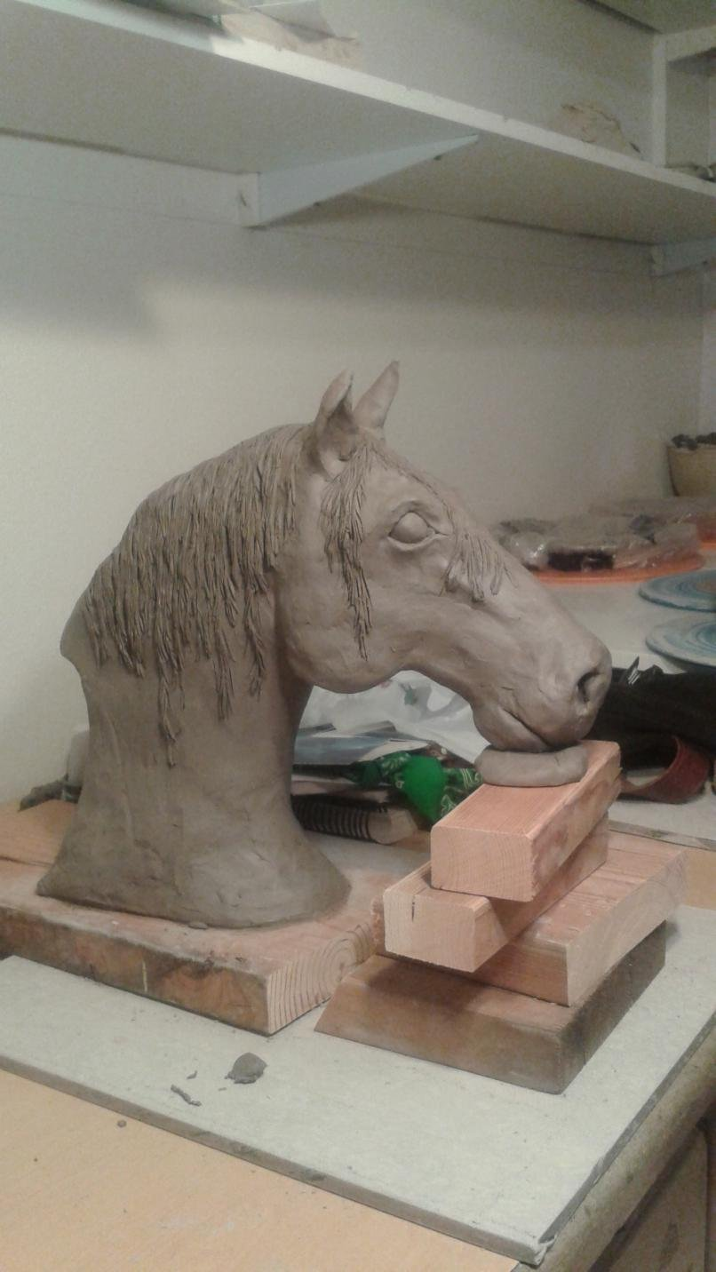 Horse and livestock clay sculpture-20150326_200743.jpg