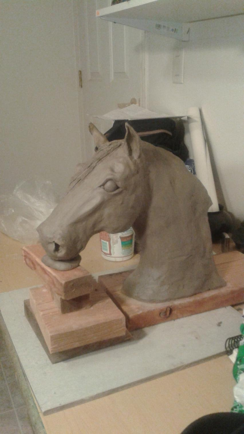 Horse and livestock clay sculpture-20150326_200802.jpg
