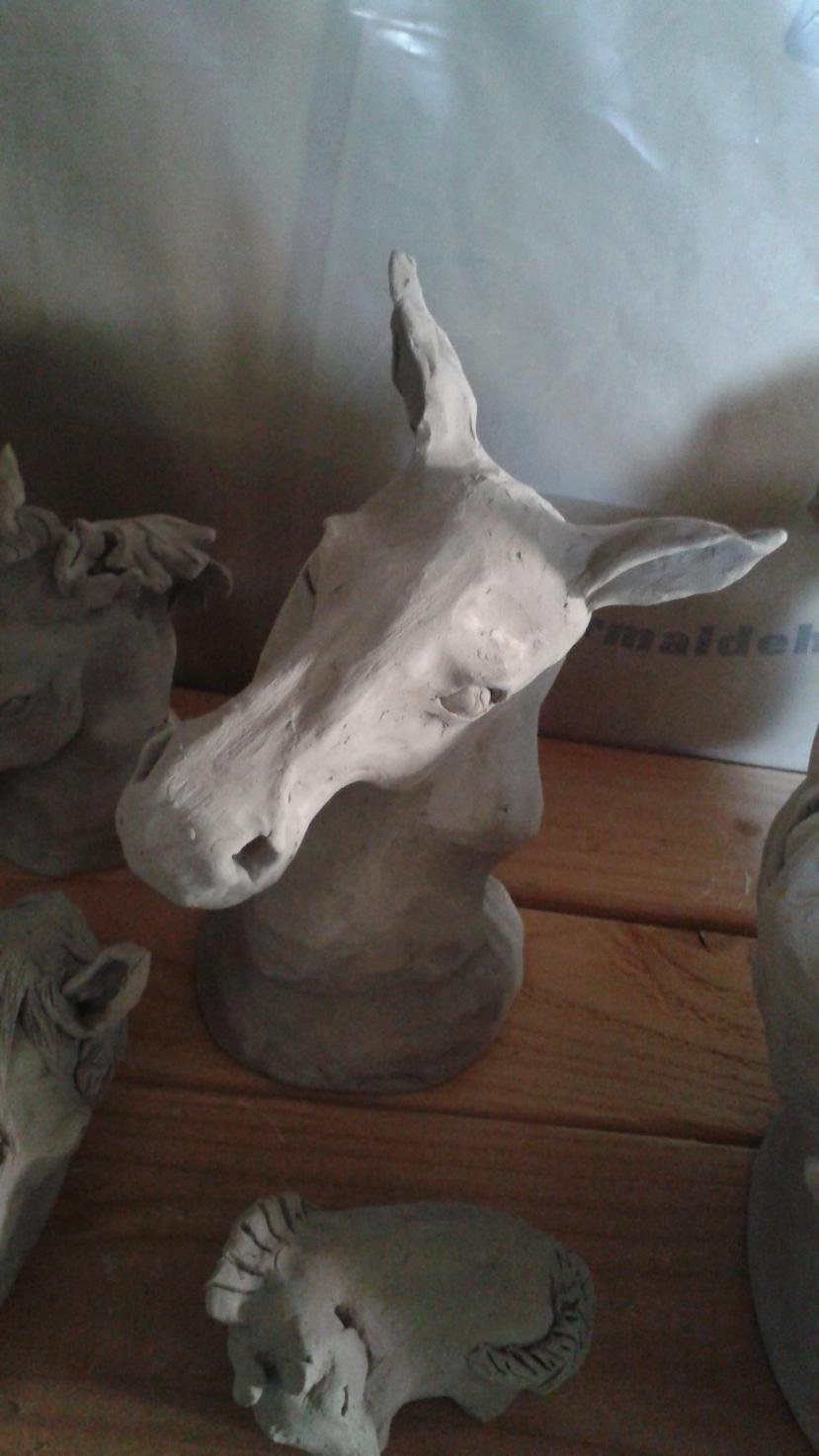 Horse and livestock clay sculpture-20150528_161945.jpg