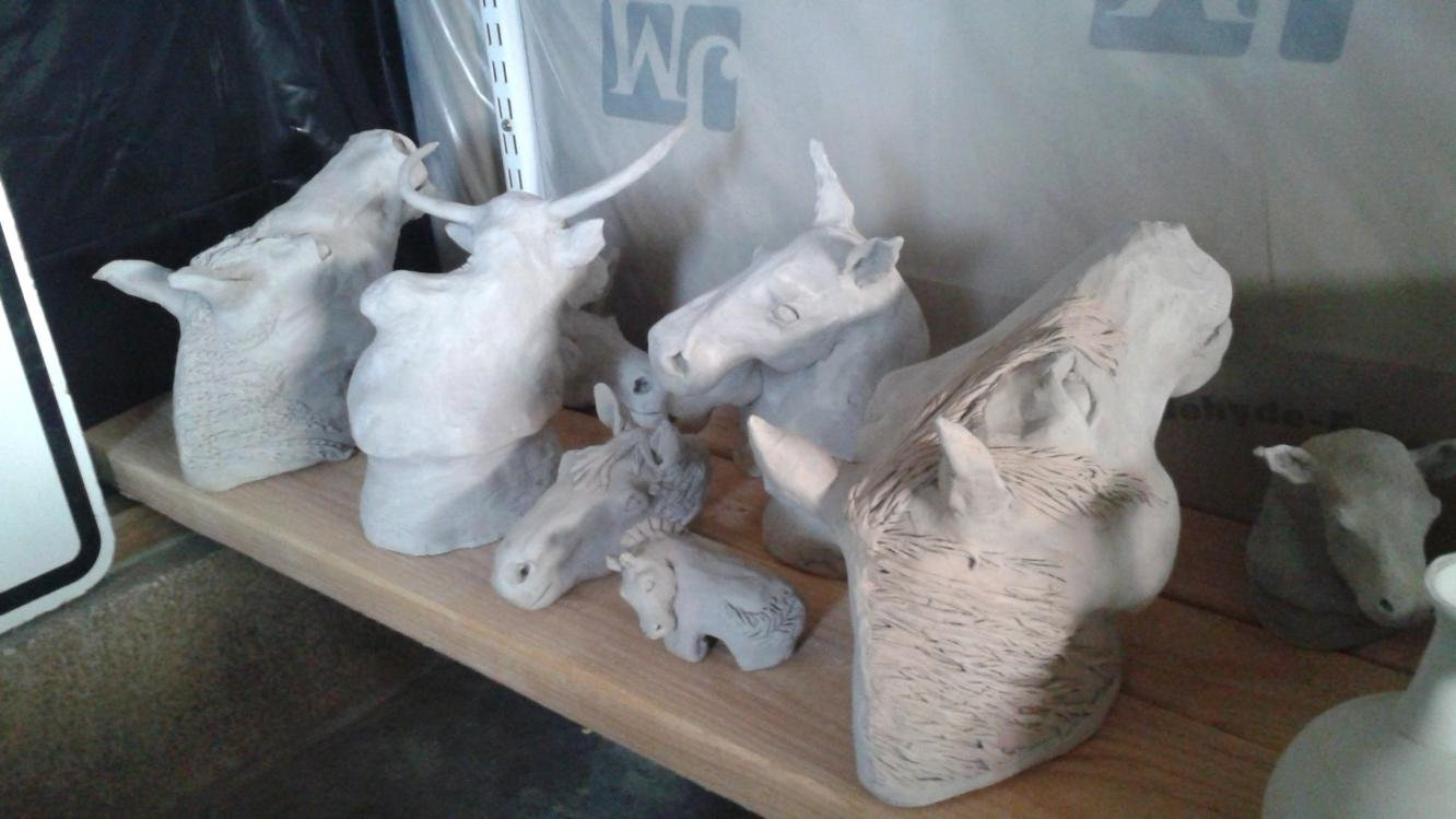 Horse and livestock clay sculpture-20150528_162000.jpg