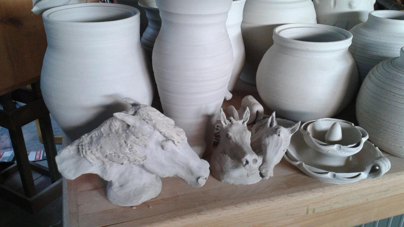 Horse and livestock clay sculpture-20150528_162021.jpg