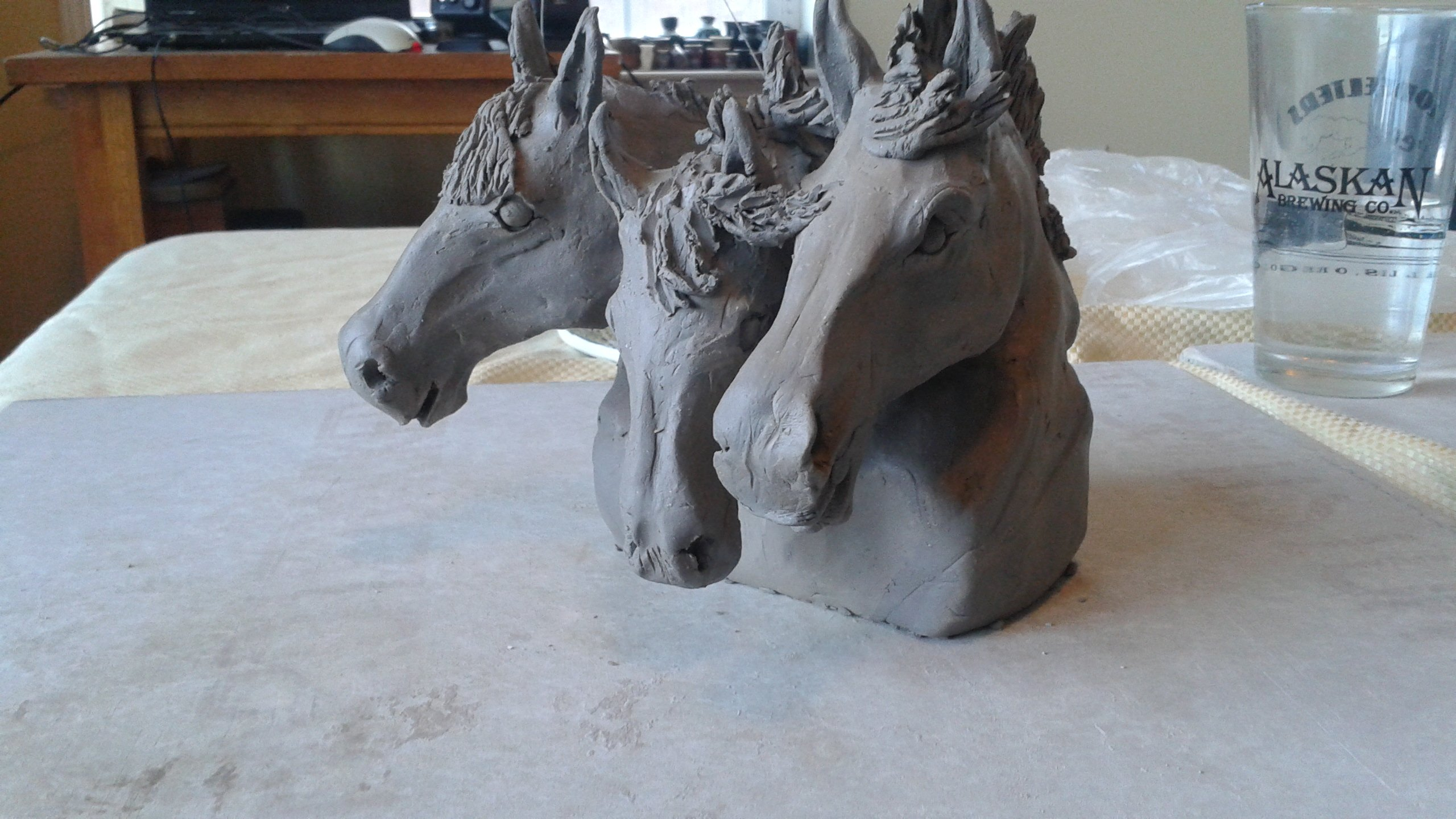 Horse and livestock clay sculpture-3sisters2.jpg
