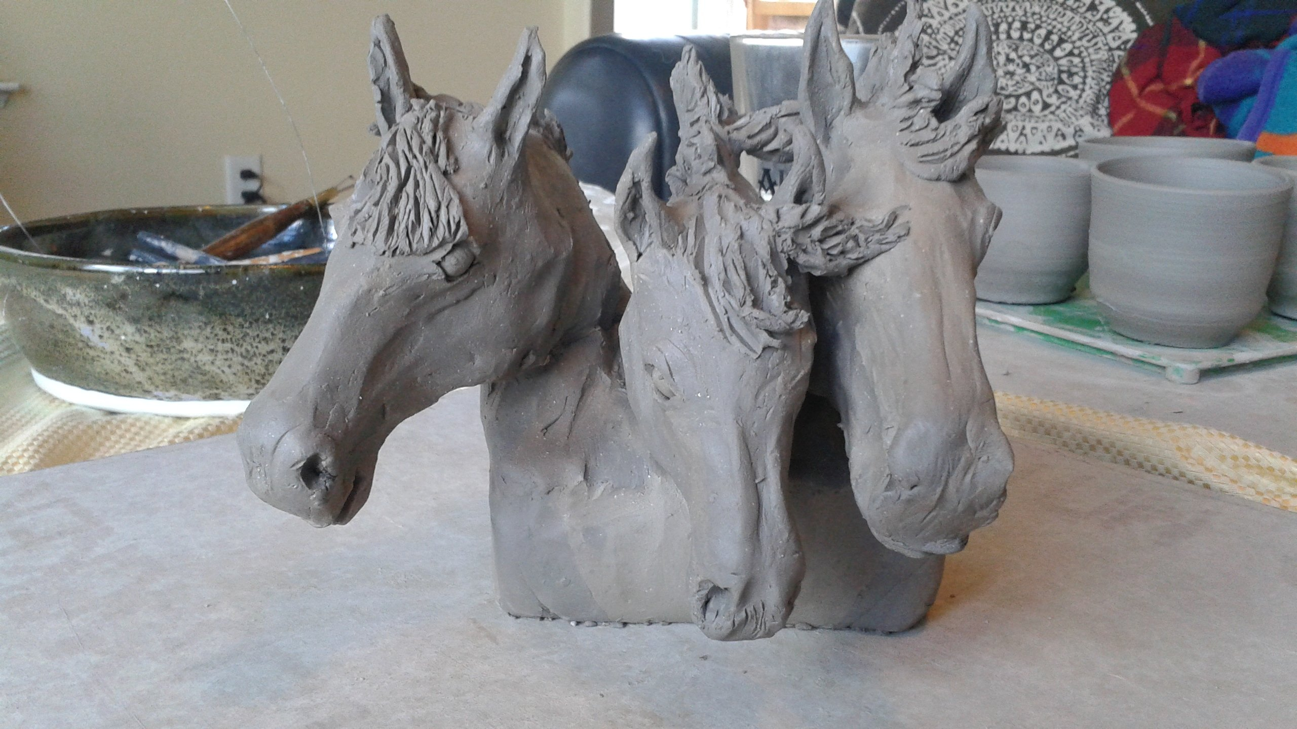 Horse and livestock clay sculpture-3sisters4.jpg