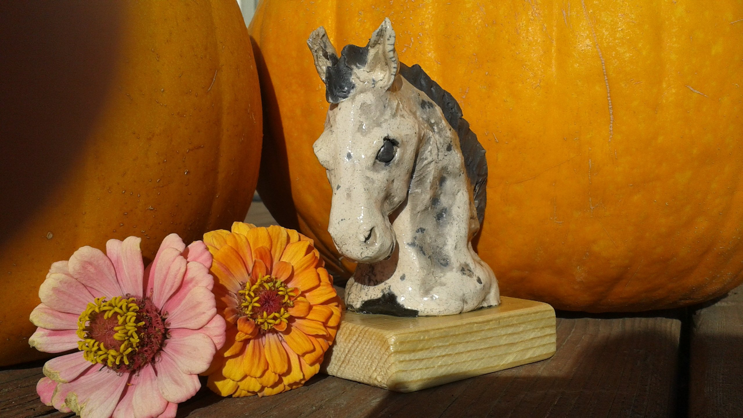 Horse and livestock clay sculpture-bucephalus.jpg
