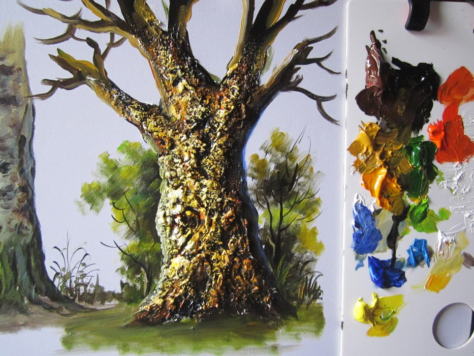 My Painting Process Quot How To Paint A Tree In Acrylics