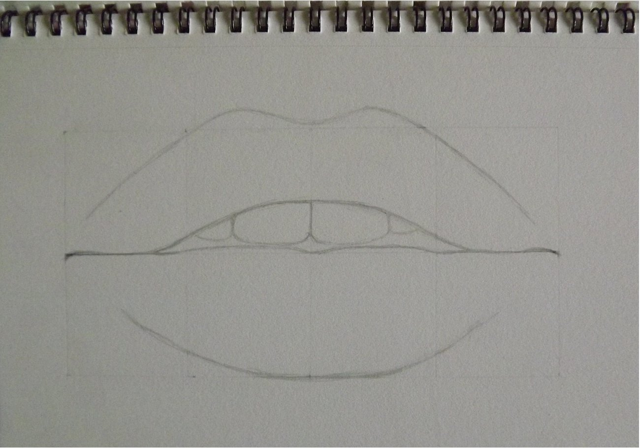 Lips drawing done by watching a tutorial-step-2.jpg