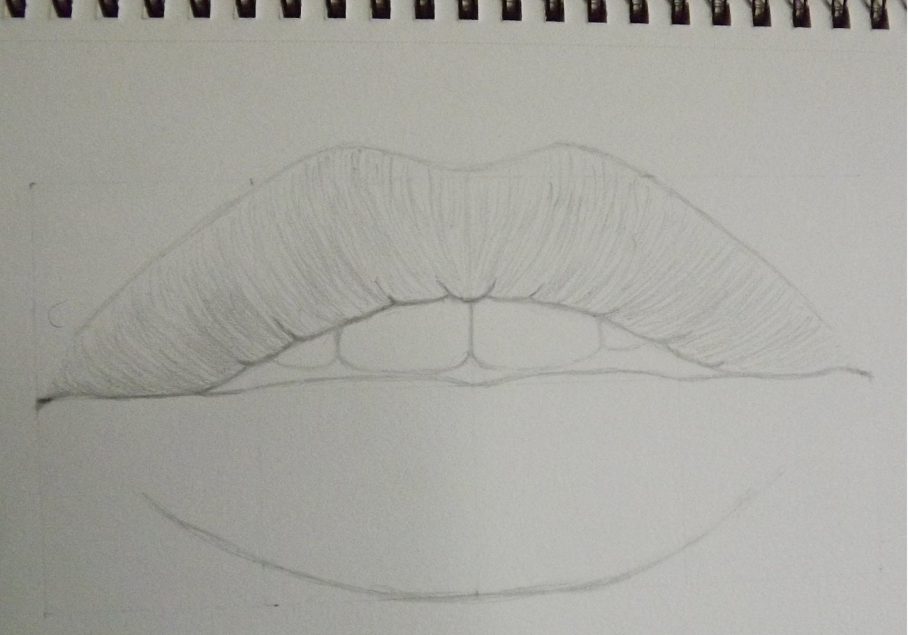 Lips drawing done by watching a tutorial-step-3.jpg