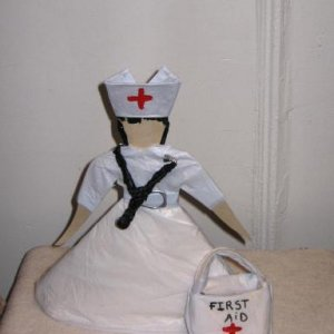 The Nurse Paper Doll Upcycled